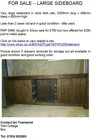 Sideboard advert