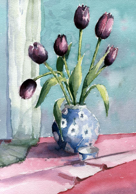 Still life with tulips –  WC