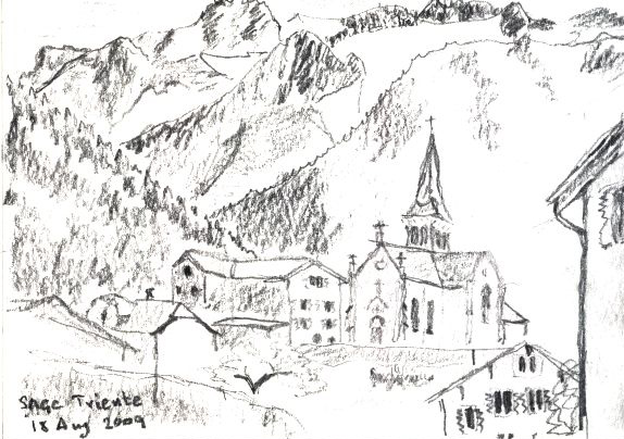 Triente- Mont Blanc – pencil