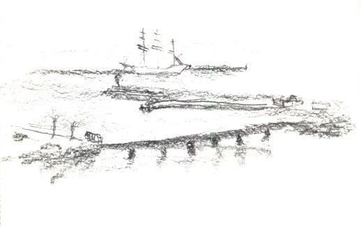 schooner – pencil