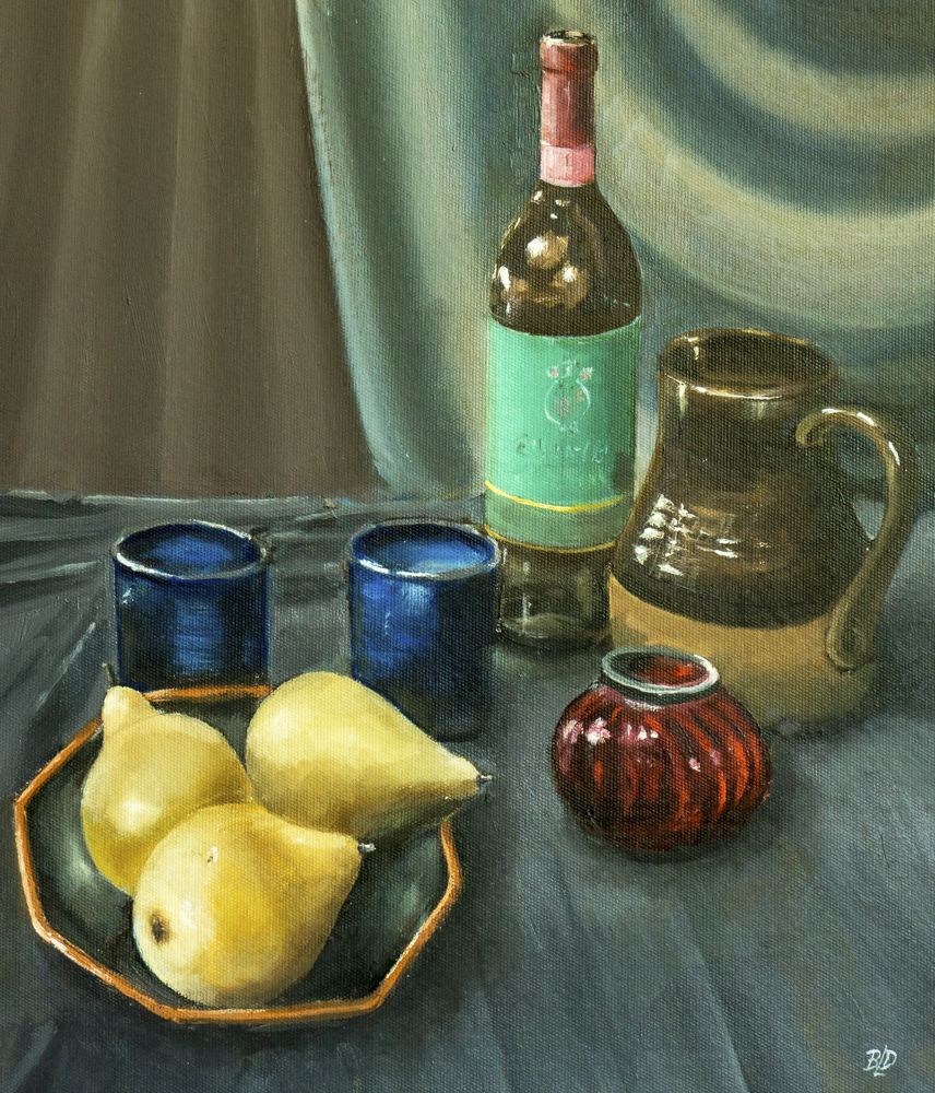 Still life c pears – Oil