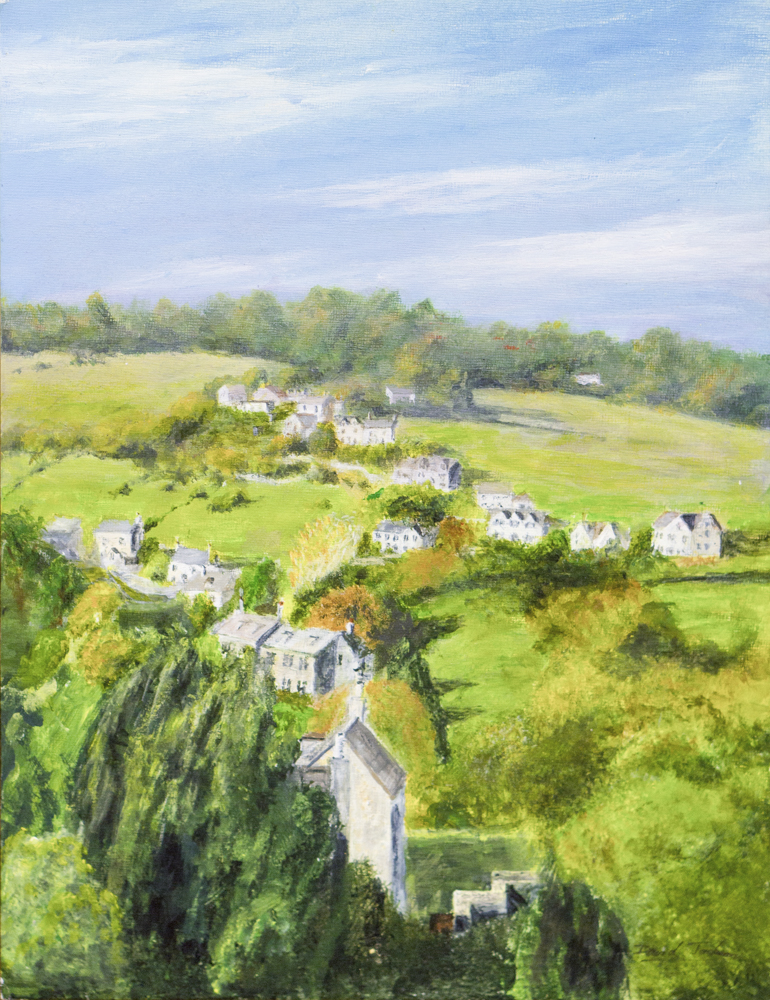 Swells Hill from Wall's quarry – Acrylic – David Jackson