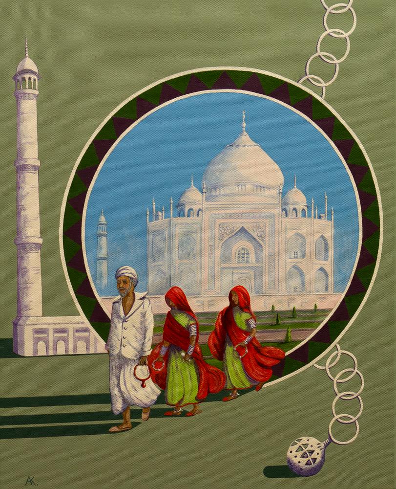 Taj Mahal – acrylic