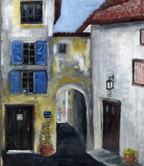 Archway in Provence Malaucene – Oil