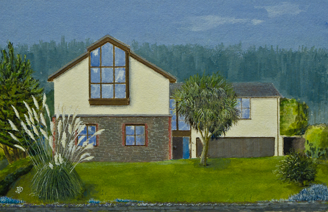 Commission house painting – WC & Gouache