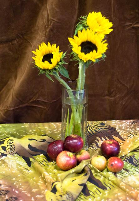 Sunflowers & apples – Oil