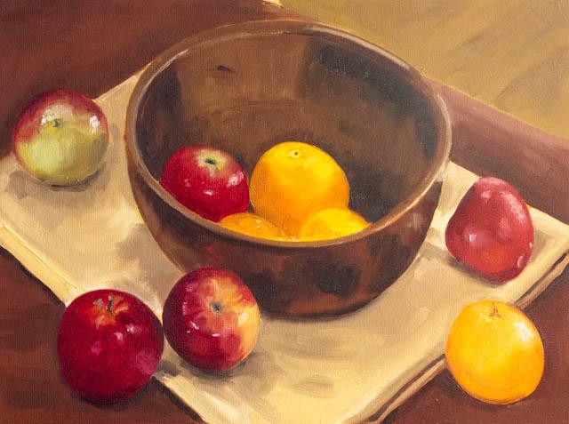 The apple bowl – Oil