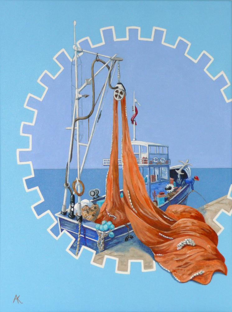 Loading the nets – acrylic