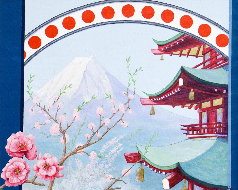 Cherry blossom – acrylic