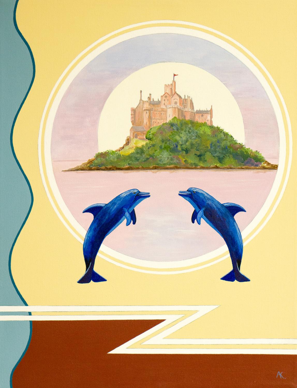 St Michael's Mount – acrylic