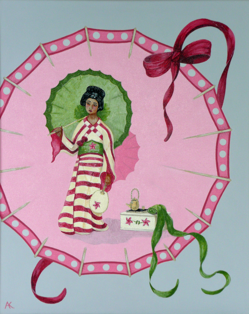 Pink parasol – acrylic