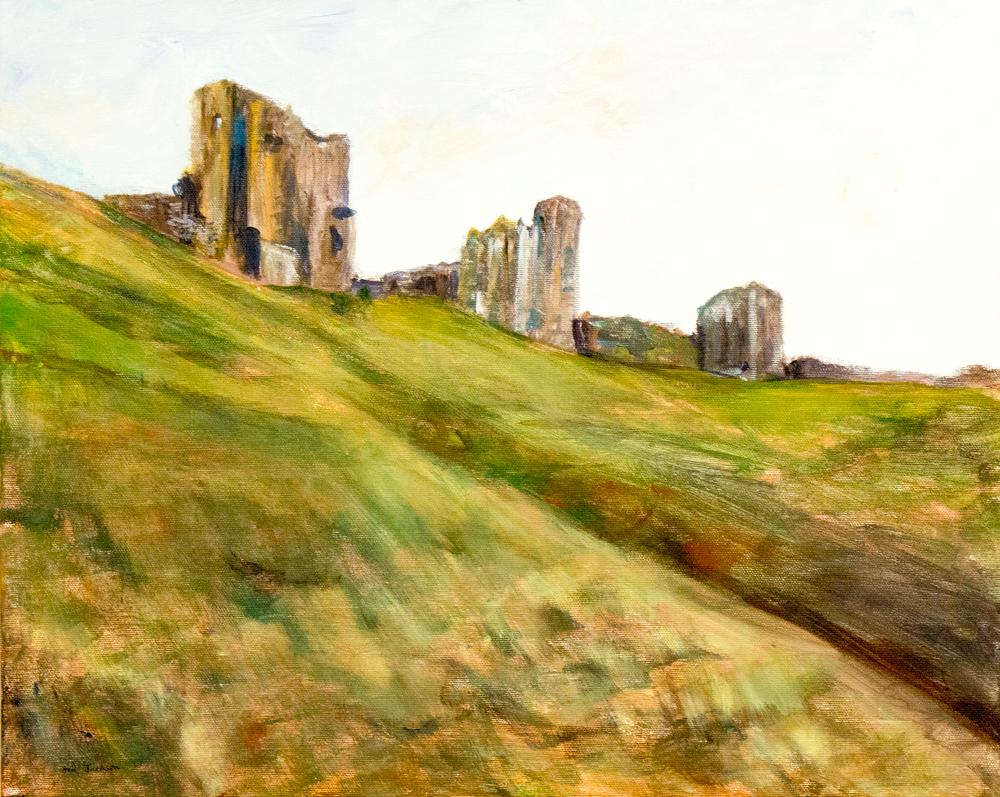 Ann Jackson – Corfe castle – acrylic