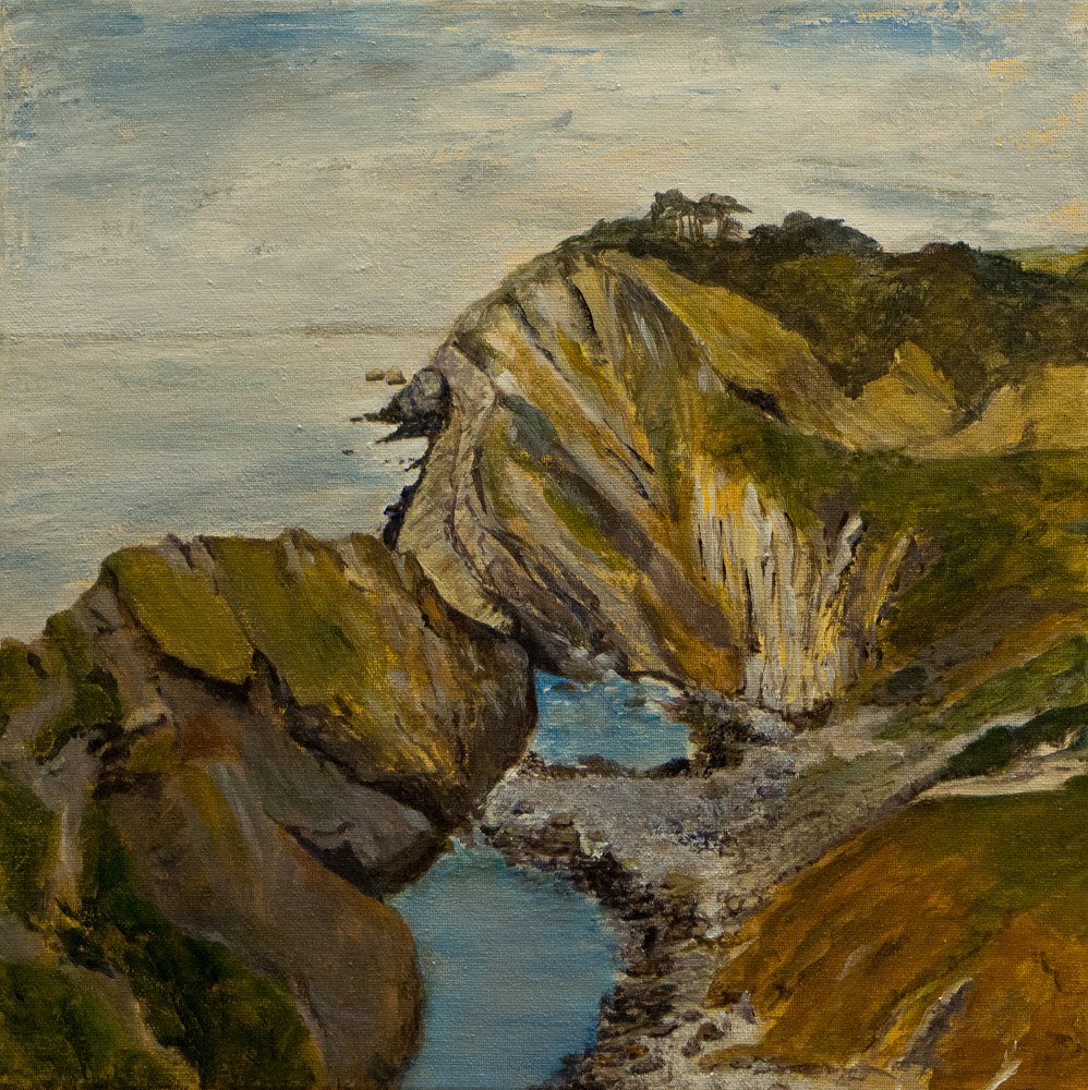 Ann Jackson – From Stair Hole,  looking W. – acrylic