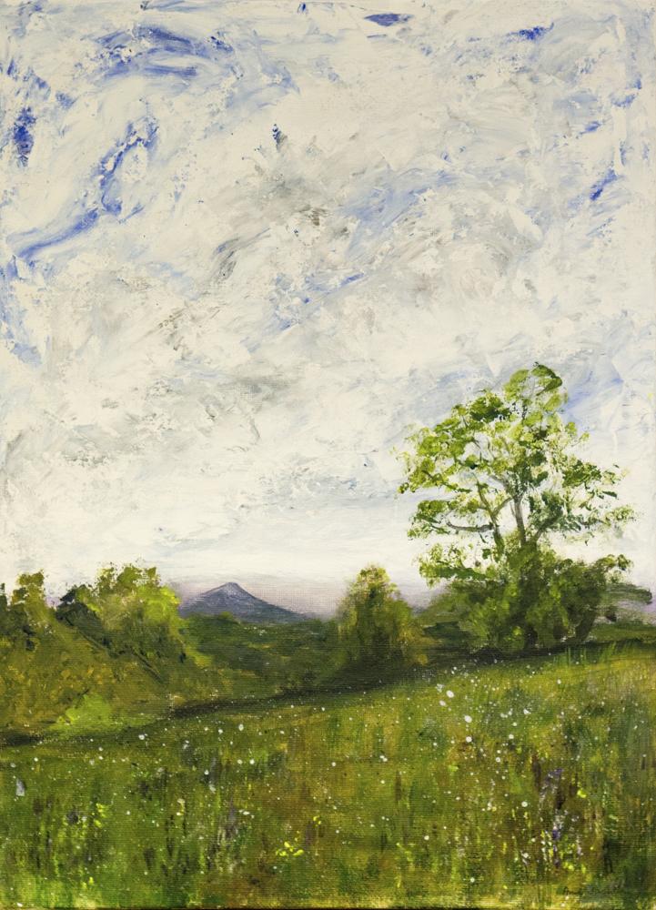 Ann Jackson – Rodborough common – acrylic