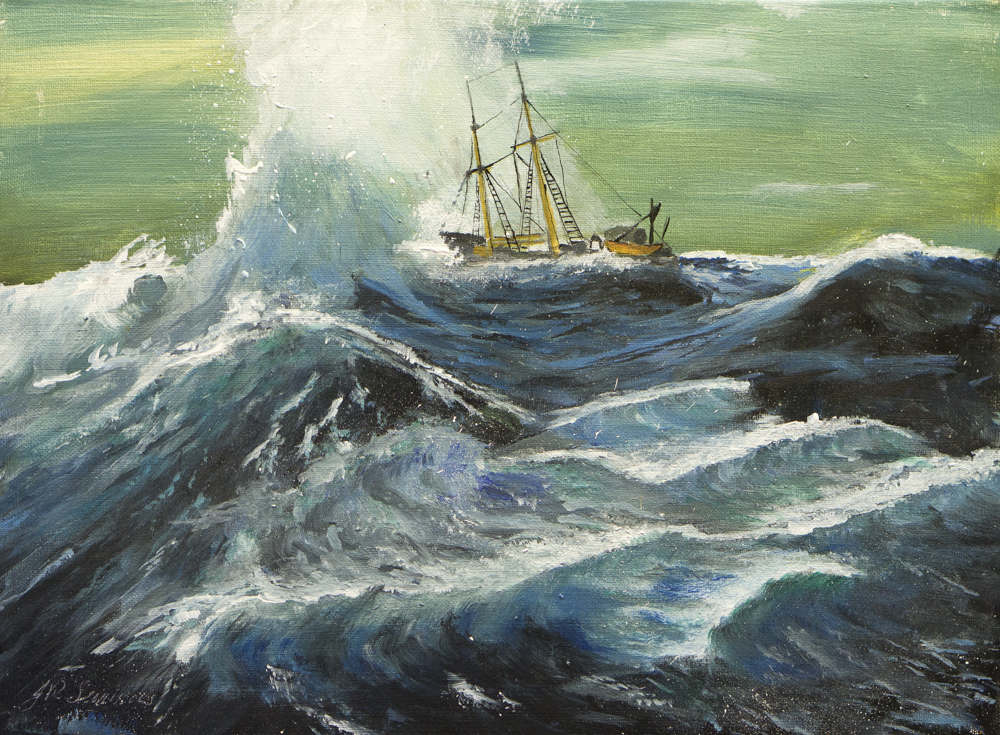 Stormy sea – Acrylic
